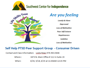 Self Help PTSD Peer Support Group @ SWCI | Durango | Colorado | United States