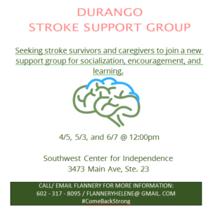 Durango Stroke Support Group @ SWCI | Durango | Colorado | United States