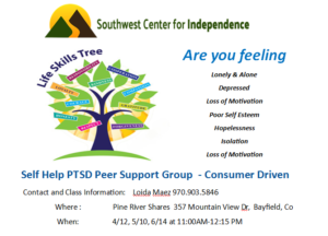 Self Help PTSD Peer Support Group - Bayfield @ Pine River Shares | Bayfield | Colorado | United States