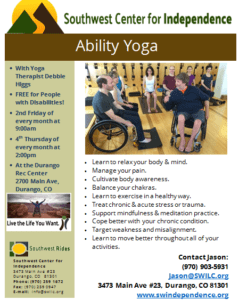 Ability Yoga @ Durango Rec Center | Durango | Colorado | United States