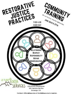 Restorative Justice Practices Community Training @ Double Tree | Durango | Colorado | United States