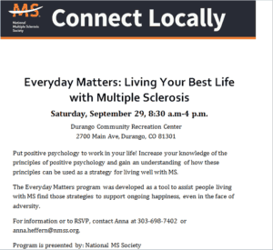 Everyday Matters: Living Your Best Life with Multiple Sclerosis @ Durango Rec Center | Durango | Colorado | United States