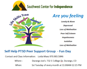 PTSD Support Group Fun Day @ Durango Joe's | Durango | Colorado | United States