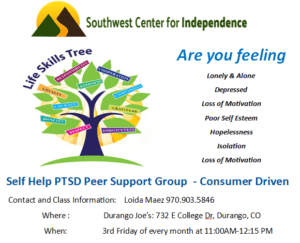 PTSD Support Group @ Durango joe's | Durango | Colorado | United States
