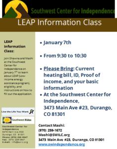 LEAP Information Class @ SWCI | Durango | Colorado | United States