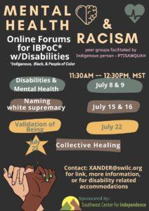 IBPoC Mental Health & Racism @ Online Forums