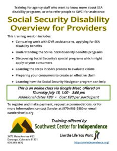 Social Security Disability Overview for Providers @ Google Meet